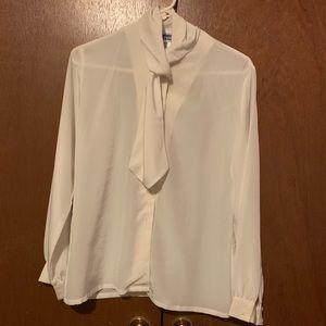 white long sleeve blouse for women